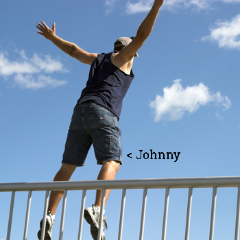 man jumping off bridge from media buying agency Advantage